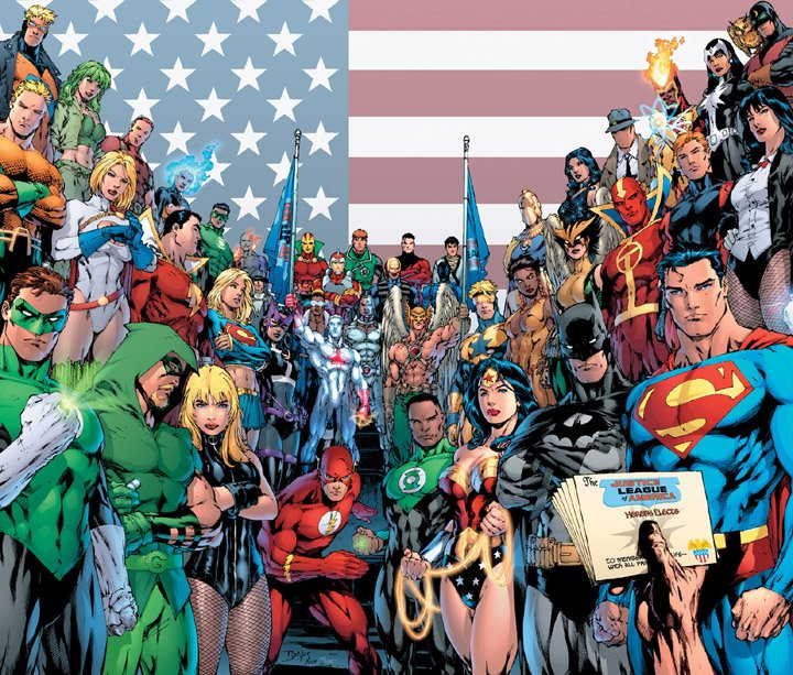 JLA Justice League of America heroes wallpaper
