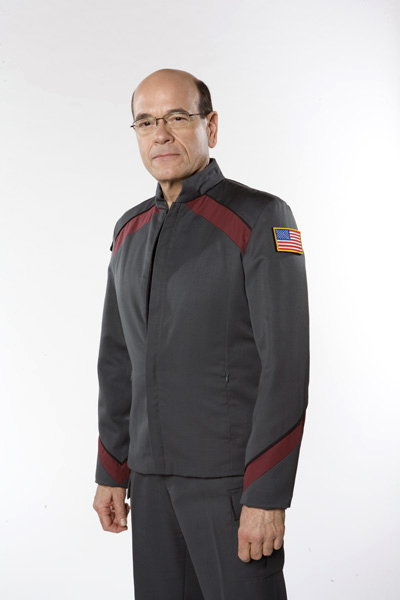 Picardo takes over command of Atlantis from Amanda Tapping (Col.
