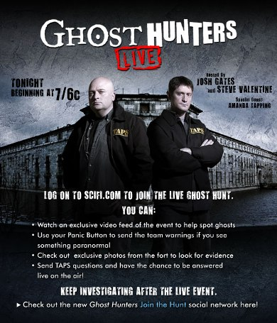 "Ghost Hunters"" Live for Halloween Night"