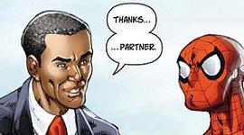 Spidey Meets Obama