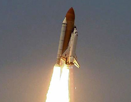 space shuttle launch. space shuttle Atlantis as