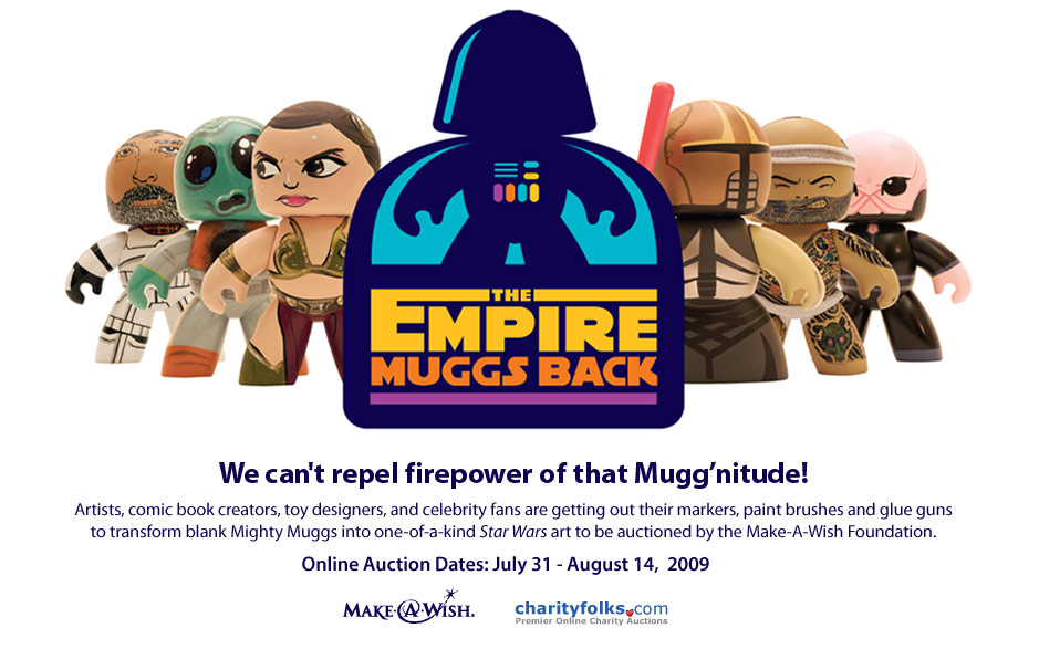 """The Empire Muggs Back: Star Wars Art for a """"Mighty"""" Good Cause"""