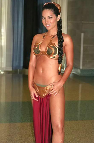 princess leia slave photos. worn by Princess Leia.
