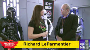 "<span class=""entry-title-primary"">Phoenix Comicon 2009: Interview with Richard LeParmentier</span> <span class=""entry-subtitle"">Sam Roberts talks with the ""Star Wars"" actor about other works</span>"