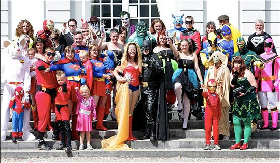 Couple Throws SuperHero Themed Wedding