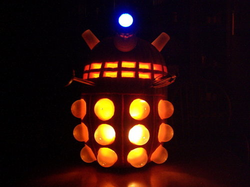 Dalek Pumpkin Will Exterminate All Trick or Treaters