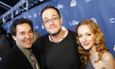 Pictured: (l-r) John Wirth, Tom Wheeler, Jennifer Ferrin (Photo by: Trae Patton/NBC)