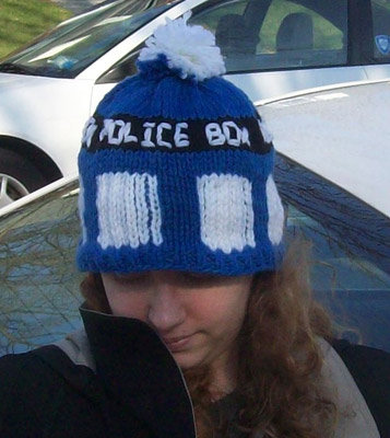 Knit Your Own TARDIS Hat Slice of SciFi