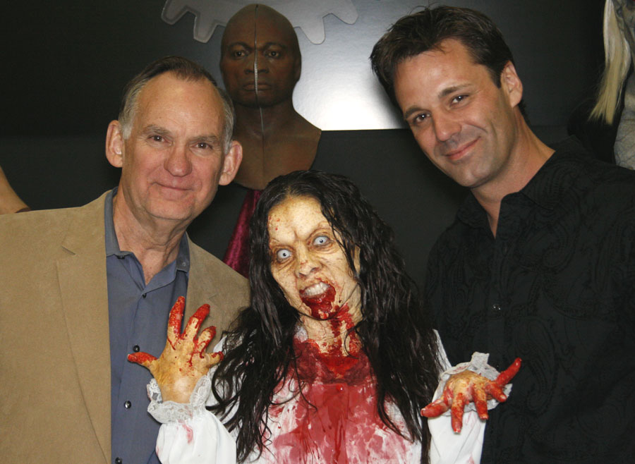 Brooke Lewis with Illusion Industries owners Ron Halvas and Todd Tucker