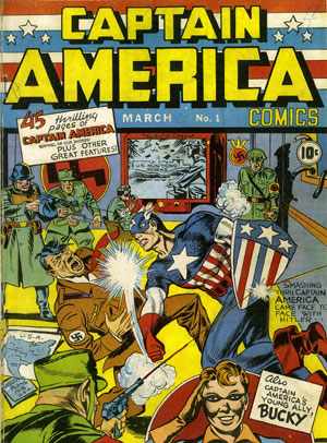 Captain America #1 (image courtesy Kirby Museum)