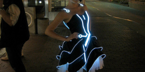 """Tron"" Prom Dress"