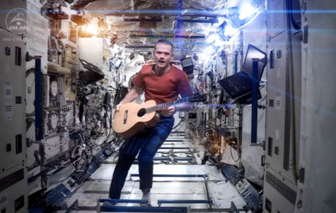 ISS Astronaut Covers David Bowie