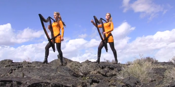 "Sisters Play ""Star Trek"" Theme on the Electric Harp"