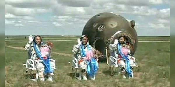 China's Astronauts Take a Break