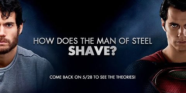 How Does Superman Shave?
