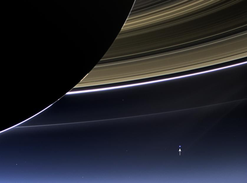 Earth View From Saturn's Rings