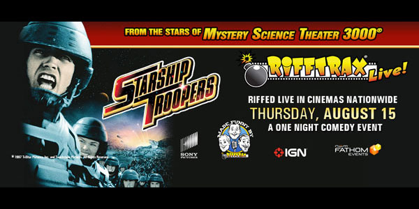 Next Up for RiffTrax Live: Starship Troopers!