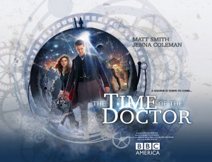 The Time of the Doctor, Clara (Jenna Coleman) and the Doctor (Matt Smith) Photo Credit: RAY BURMISTON/LEE BINDING, © BBC/BBC WORLDWIDE 2013