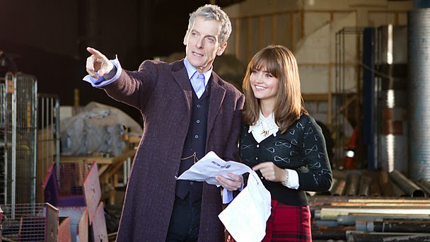 First Look: Capaldi and Coleman on Who Set