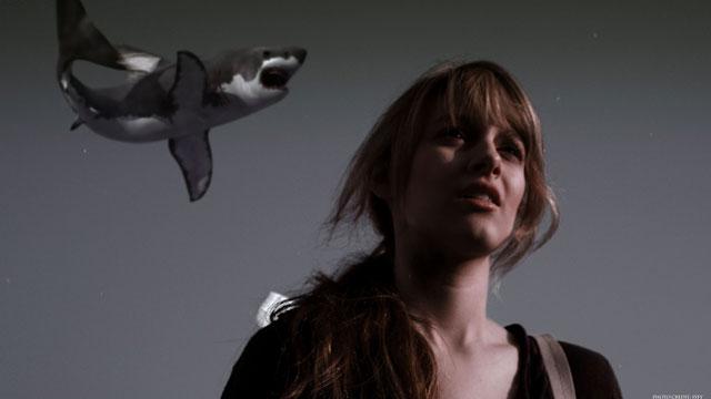 "SHARKNADO -- ""Syfy Original Movie"" -- Pictured: Aubrey Peeples as Claudia -- (Photo by: Syfy)"