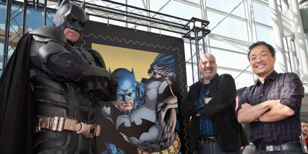 Batman Stamps Dedication New York Comic Con 2014