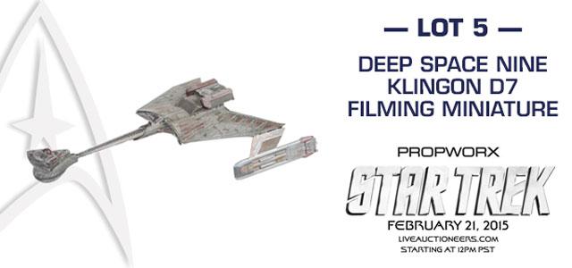 Propworx DS9 Klingon D7 Miniature