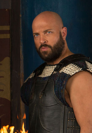 "Graham Shiels as King Aegeus on ""Olympus"""