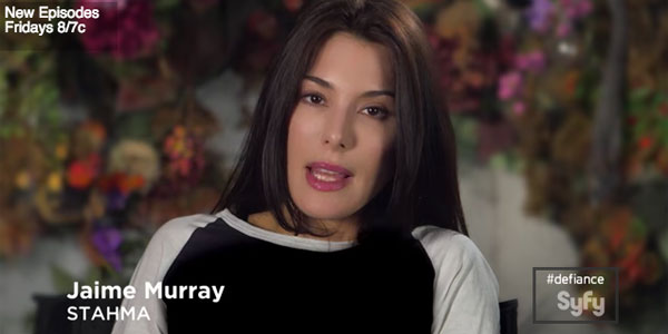 "Jaime Murray: Fear and Loving in ""Defiance"" Power plays and other challenges await in Season 3"
