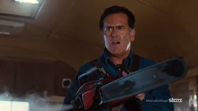 "<span class=""entry-title-primary"">Groovy: First ""Ash Vs Evil Dead"" Trailer</span> <span class=""entry-subtitle"">""Evil is always waiting in the shadows"" but it's no match for the boomstick</span>"