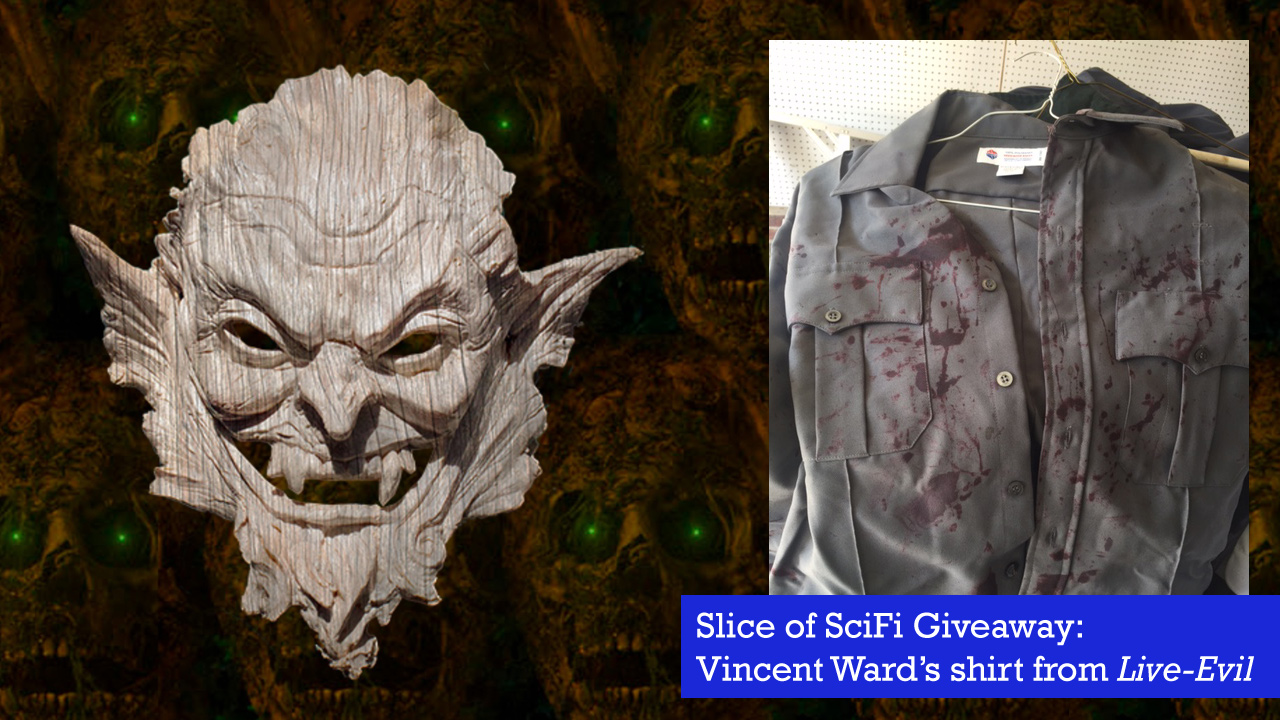 "Raffle: ""Live-Evil"" Costume Giveaway Here's your chance to win the bloody police shirt worn by Vincent M. Ward"