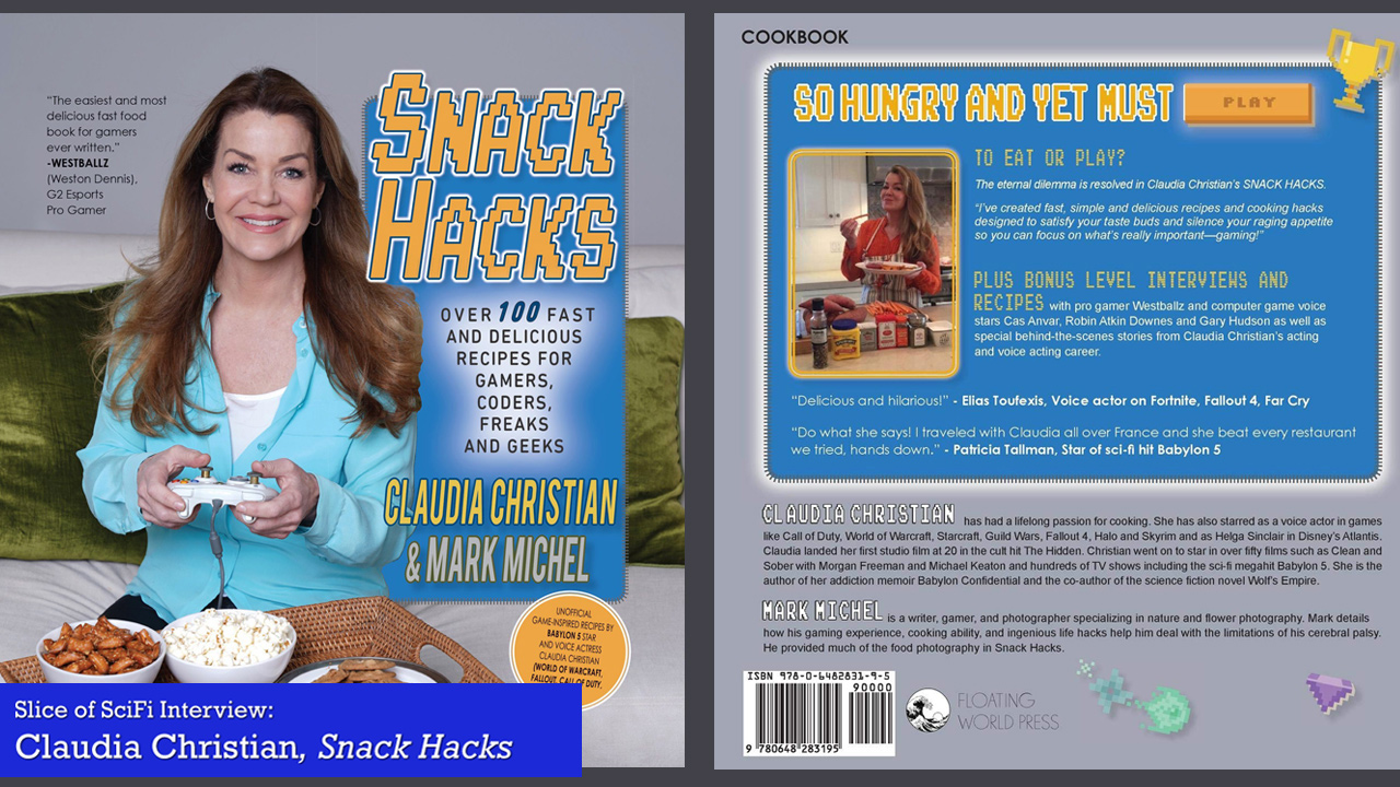 """Snack Hacks"": Claudia Christian wants you to Game Healthier Talking about cooking, navigating kitchens, and alcohol addiction"