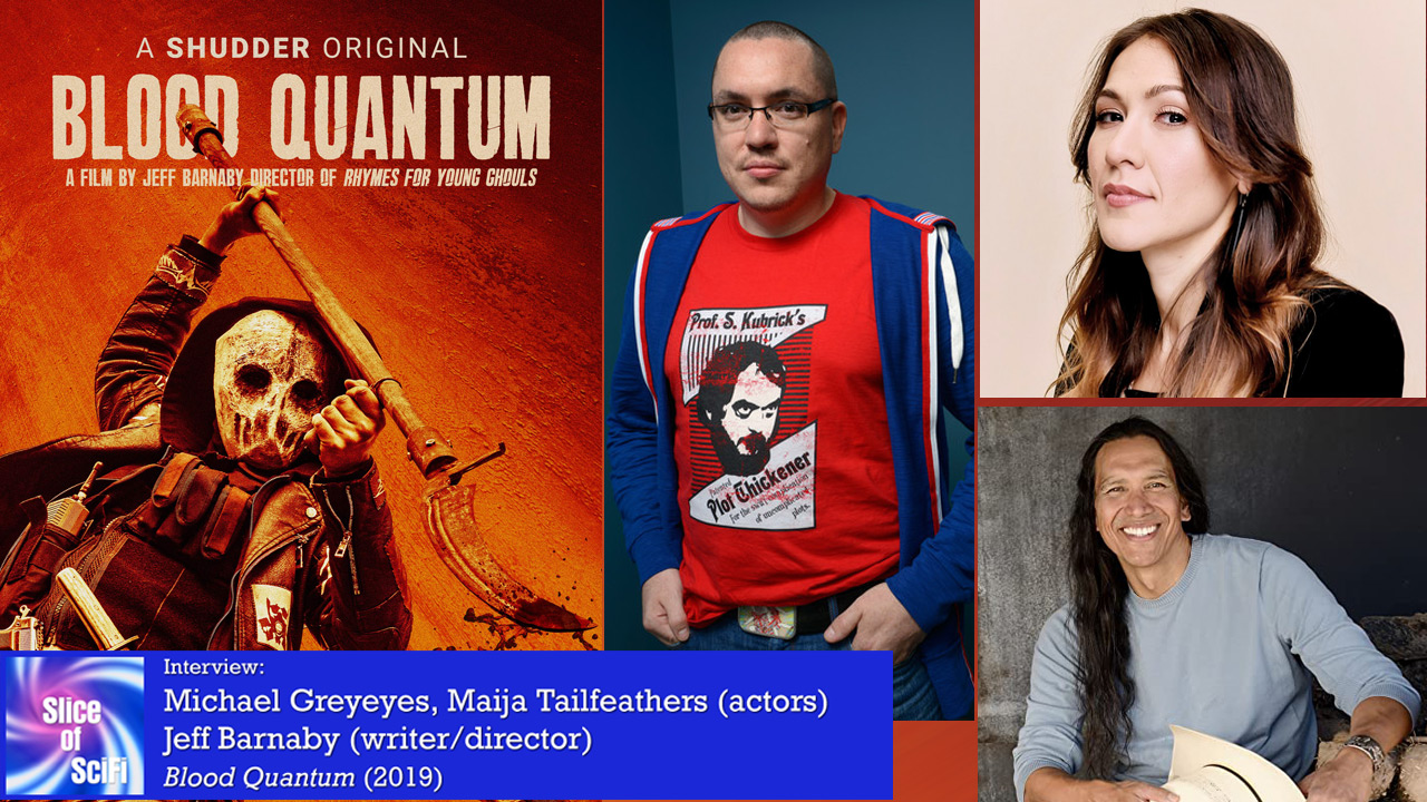 """""""Blood Quantum"""": On Zombies, Marginalization and Compassion Talking with Jeff Barnaby, Michael Greyeyes and Máijá Tailfeathers and daily adversity"""