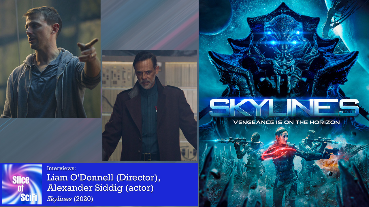 """Skylines"": Talking to Liam O'Donnell & Alexander Siddig Making a space adventure that's a fun story to make and to watch"
