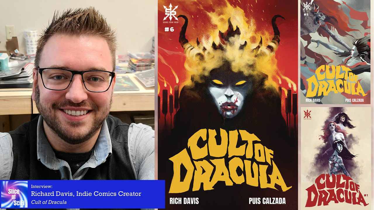 """""""Cult of Dracula"""" taking horror fans by storm Creator Richard Davis talks horror, comics, and his indie comics journey"""